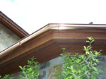 6 Inch Half Round Copper Gutter with Custom Miter Joint